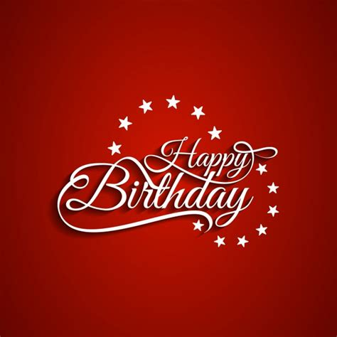 happy birthday red design happy birthday red backgound vector free download