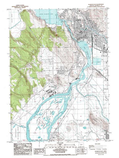map of oregon klamath falls klamath falls topographic map or usgs topo 42121b7