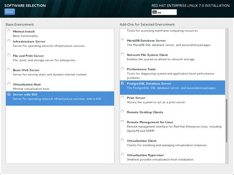 linux server documentation template 6 13 software selection