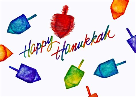 hanukkah color colors dreidels hanukkah cards from cardsdirect