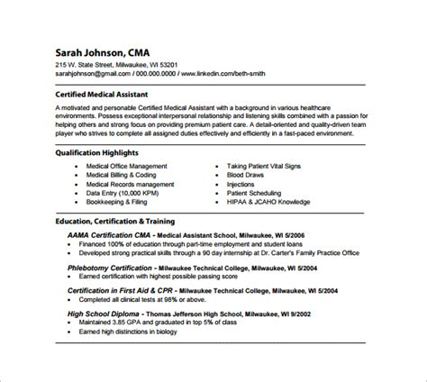 Registered Resume Pdf 10 Assistant Resume Templates Free Pdf Word Psd