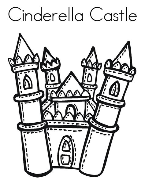cinderella castle coloring pages print free printable cinderella coloring pages for kids