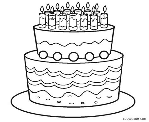 Coloring Page Birthday Cake by Free Printable Birthday Cake Coloring Pages For