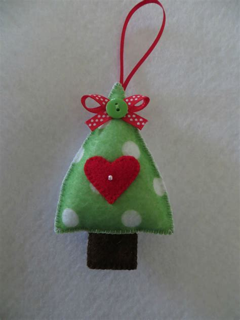 hand stitched felt christmas tree ornament felt