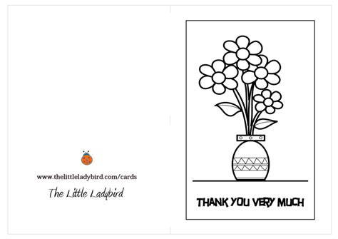 how to make thank you card coloring page thank you card