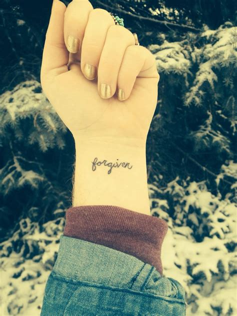 forgive tattoo forgiven wrist ink follow me