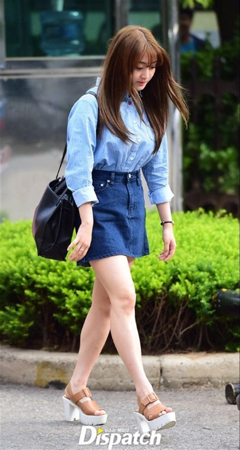 tzuyu denim skirt korean fashion lookbook sweetnara