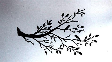 Wall Sticker Siluet Bunga Ay817 cara menggambar siluet pohon dan burung