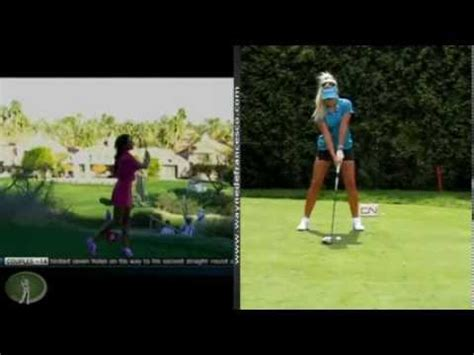 holly sonders golf swing holly sonders and natalie gulbis golf swing analysis
