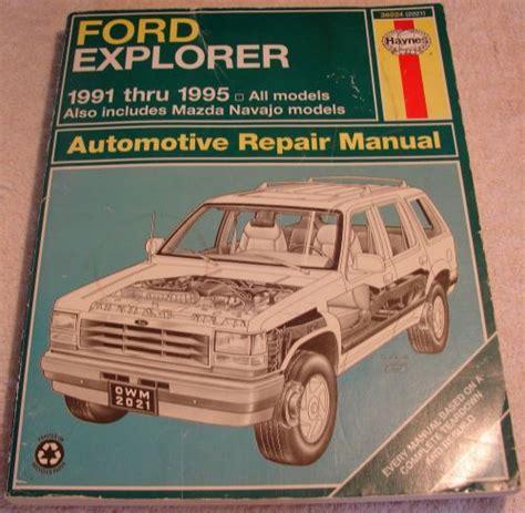 online car repair manuals free 1991 mazda navajo spare parts catalogs service manual haynes repair manual 1991 1995 ford explorer mazda used ford explorer mazda