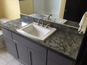 charcoal veined concrete bath vanity top sink