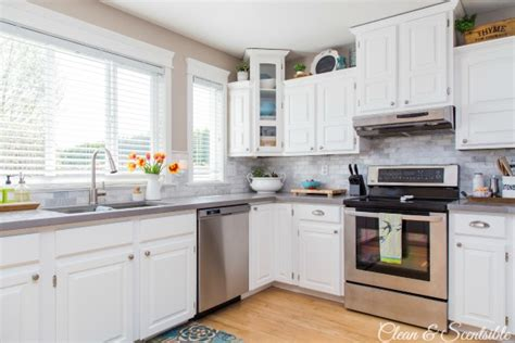 white kitchen reveal home tour clean and scentsible kitchens with white cabinets casual cottage