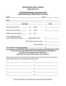 summer c registration form template family reunion registration form template family reunion