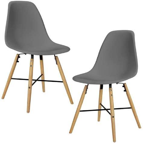 chaise casa en casa 2x chaise de design grau rembourr 233 salle 224 manger