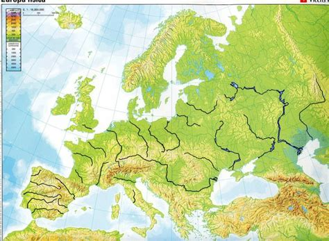 physical map europe blank physical map of europe with rivers and mountains