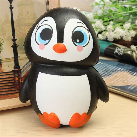 squishy squooshems squishy penguin jumbo 13cm rising soft kawaii