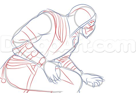How To Draw Scorpion From Mortal Kombat X Easy Things To | draw scorpion from mortal kombat x step by step drawing