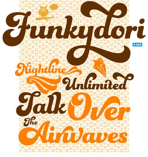 typography 70s fonts funkydori font a funky of script