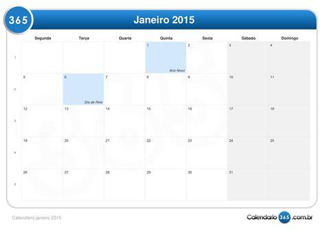 Calendario Janeiro Calend 225 Janeiro 2015