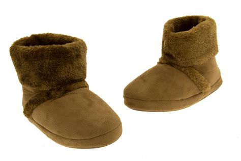 fur booties slippers warm soft faux fur comfy winter slipper boots