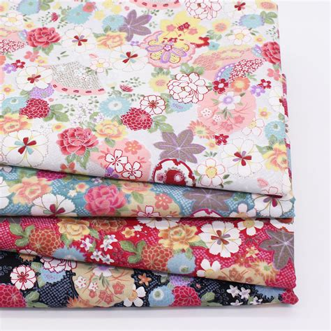 Patchwork Cotton - floral print cotton fabric home sewing fabrics patchwork