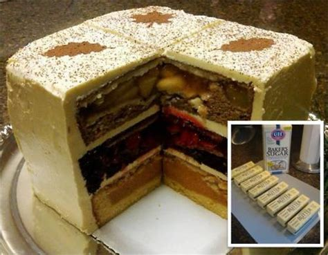 pie baked inside cake yummy stuff 2 pinterest