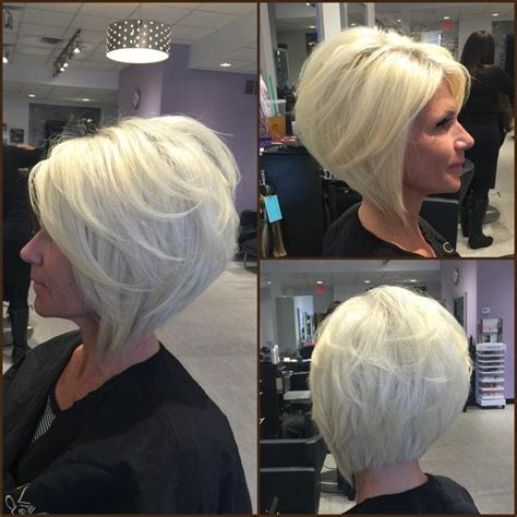 platinum blonde bob hairstyles pictures layered angled bob by gia platinum blonde by
