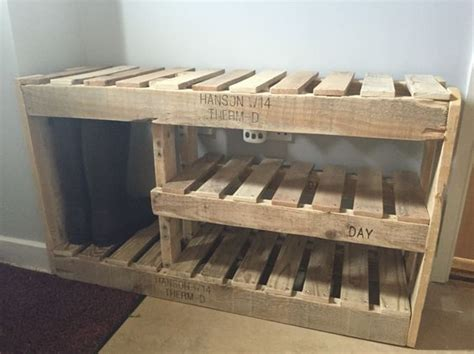 do it yourself shoe storage pallet shoe rack pallet project