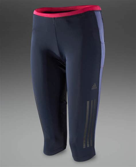adidas womens supernova  tights womens running clothing night shade blast pink