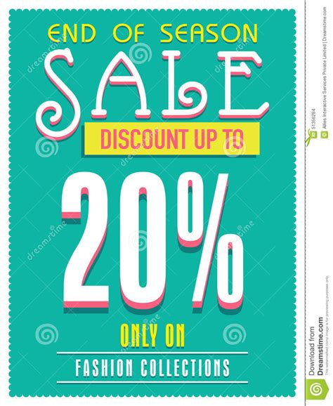 sale poster banner or flyer design stock illustration