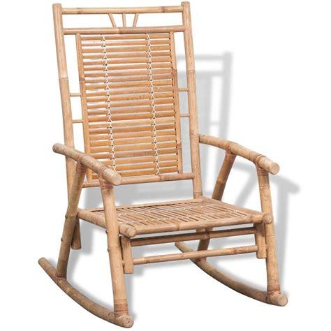 vidaxl co uk vidaxl rocking chair bamboo