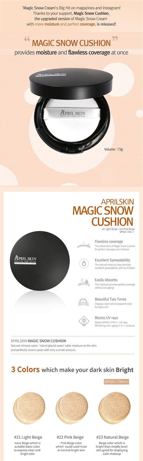 April Skin Pink Magic Snow Cushion Powder April Skin Bb Chusion april skin magic snow cushion 22 pink beige 15g