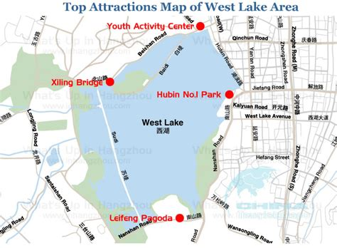 attractions  west lake area west lake travel
