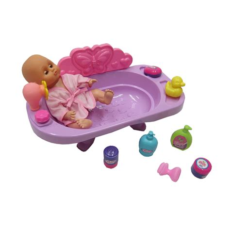 bathtub doll diy kids 13 pcs realistic play doll with functioning