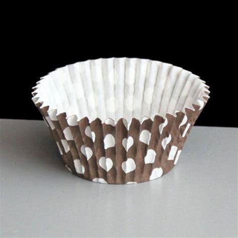Cup Cake Paper Cupcake Polkadot Cake Polkadot brown polka dot cupcake or muffin cases 180