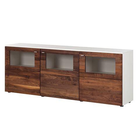 sideboard weiß schwarz sideboard wei 195 nussbaum g 252 nstig kaufen