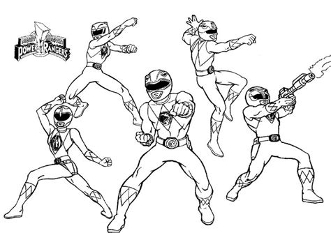 power rangers christmas coloring pages mighty morphin power rangers kids colouring pages