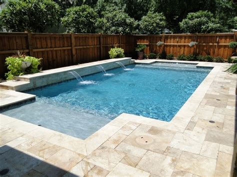 terrific non slip pool deck materials with travertine around swimming pools and wood shadow box