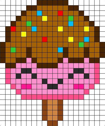 easy perler bead patterns kawaii popsicle perler bead pattern perler