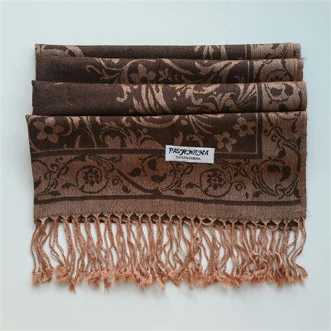 Pashmina Umama Kasmir Turkey Motif turkish ottoman design pashmina gold brown scarf shawl