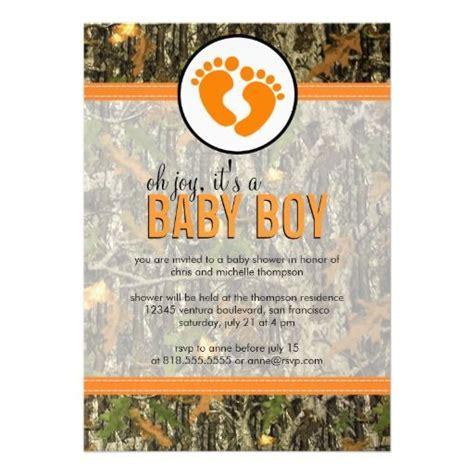 Baby Boy Camo Shower Invitations orange camo baby boy shower invitation baby shower