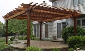 12 Ft Retractable Awning Pergola Arbors Deck And Patio Western Red Cedar Pergolas