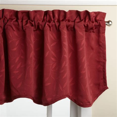 18 Inch Valance Lorraine Home Fashions Whitfield 52 Inch By 18 Inch