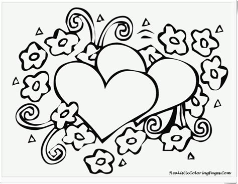 free coloring pages valentine hearts valentines coloring pages realistic coloring pages