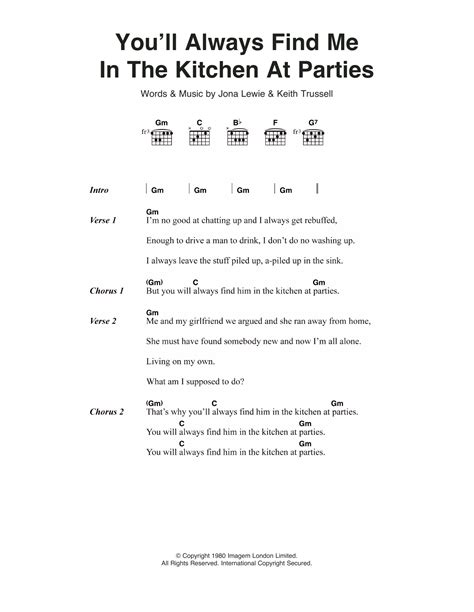 In The Kitchen Lyrics by You Ll Always Find Me In The Kitchen At By Jona