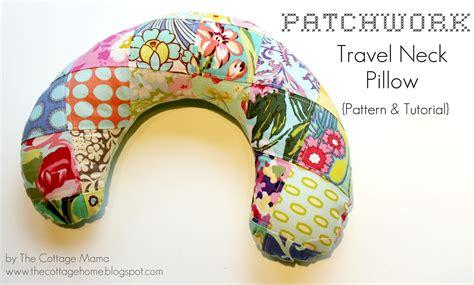 Travel Pillow Tutorial patchwork travel neck pillow pattern tutorial the