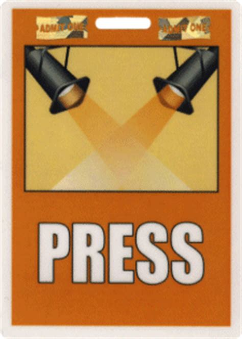press badge template stock laminated id badges