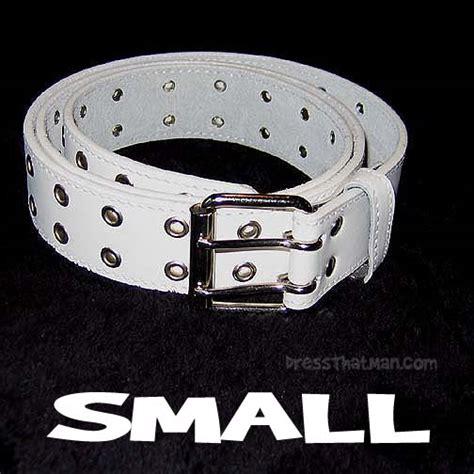 mens white belts