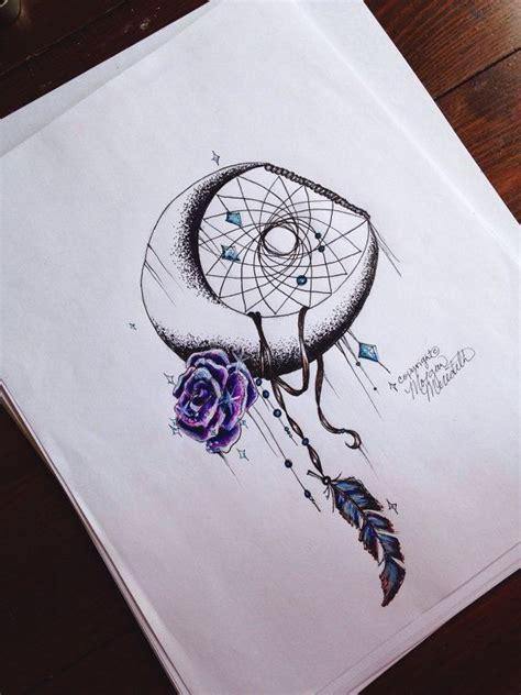 galaxy dream catcher tattoo galaxy rose moon print by morganscanvas on etsy tattoos