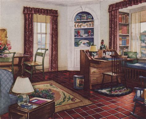 1920 homes interior 1931 traditional style living room armstrong linoleum